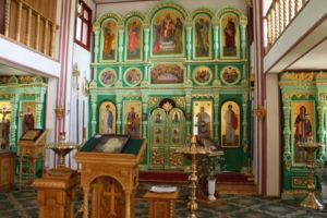 Храм преподобного Сергия Радонежского. Иконостас.